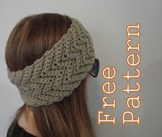 This headband and matching boot cuffs have a simple wave pattern that works up relatively quickly with pretty results.