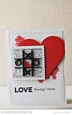 X's and O's Card Kit - Keisha Campbell #mftstamps