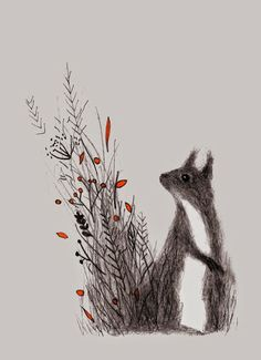 Squirrel by Linette No