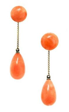 victorian coral drops. I love these earrings.