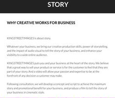 Why not let @kingstreetimage help tell the story of your business? Visit http://kingstreetimages.com