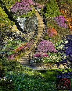 Butchart Gardens in Brentwood Bay near Victoria, British Columbia, Canada