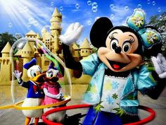 Minnie, Donald and Daisy are having fun! How about you?  What is your favorite pastime?