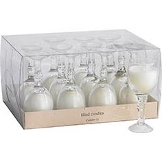 Wine Glass Candles....definite yes for center pieces - better colors though, and a ribbon tied around the stem
