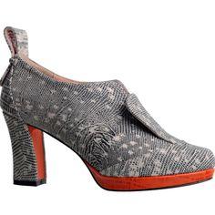 MINNAPARIKKA Heel-Tap Lizard Shoes found on Polyvore