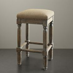 Renate Linen Counter Stools (Set of 2)   Overstock.com Shopping - Great Deals on Bar Stools