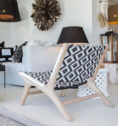 Materials: Teakwood frame in reclaimed aged finish with black and white or white diamond pattern Polyrattan Dimension: 64w x 80d x 69h cm