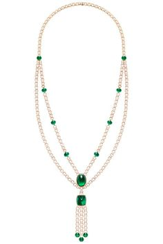 Piaget. Extremely Piaget emerald tassel necklace...♡