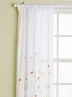 MIRA - BY BED.  Hanging Garden Curtain Panels (Pink).  $59/panel.  MIra  or ella with bk out?