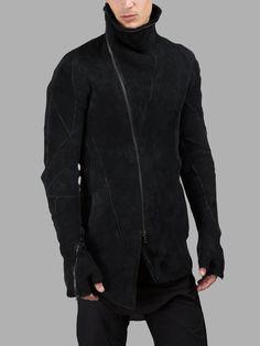 LEON EMANUEL BLANCK MEN'S BLACK SHEARLING JACKET Space Fashion, Fashion Books, Black Shearling Jacket, Kevlar Jeans, Dark Fashion, Mens Fashion, Denim Cargo Pants, Cyberpunk Fashion, Men Style Tips