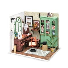 Dollhouse Kits, Wooden Dollhouse, Dollhouse Miniatures, Diy Dollhouse Furniture Easy, Puzzles 3d, Miniature Rooms, Miniature Houses, Jimmy, Thing 1