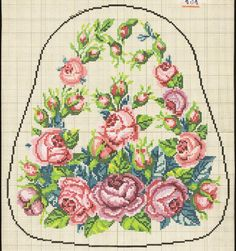 Vintage Cross Stitches, Vintage Embroidery, Ribbon Embroidery, Cross Stitch Embroidery, Embroidery Patterns, Mini Cross Stitch, Cross Stitch Rose, Cross Stitch Flowers, Cross Stitch Designs