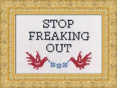 "I just bought the kit, to go with ""Irony is not dead."" If I'm gonna embroider, might as well make something useful...Subversive Kits 