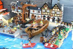 lego pirate ship construction.