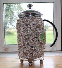 Hæklet kaffevarmer til stempelkaffekande