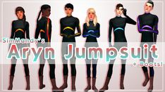 The Sims 4 Pc, Sims 4 Mm Cc, Sims 4 Characters, The Sims4, Ts4 Cc, Sims 4 Mods, Sims 4 Custom Content, Long Time Ago, Jumpsuit