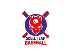 LOGO SKULL TEAM BASEBALL Logo design - this logo for sport team baseball with skull Price $125.00