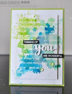 Create a smile: Text background. Scrapbook Expo, Scrapbooking, Scrapbook Cards, Card Making Inspiration, Making Ideas, Diy Cards, Your Cards, Tim Holtz, Watercolor Cards