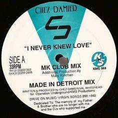 Chez Damier / I Never Knew Love - Rich Records Buy Vinyl Online