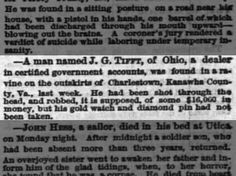 1865 J. G. Tifft of Ohio shot and robbed in Kanawha