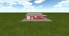 3D #architecture via @themuellerinc http://ift.tt/2lSSR3x #barn #workshop #greenhouse #garage #DIY