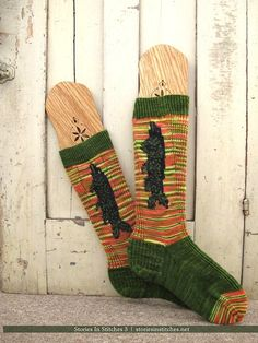 Flying Fish Knee High Socks from Stories In Stitches 3: World War I & 2 Knitting