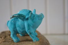 Cottage Decor Shabby Chic Cast Iron Pig in by beautifuldetailswed, $12.00