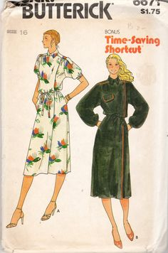 Vintage 80s Butterick 6671 Misses Loose Fitting by scarlettess