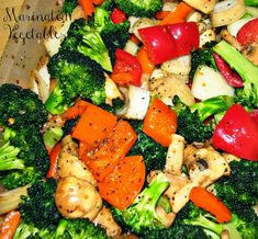 Marinated Grilled Vegetables recipe. A delicious and healthy side dish. Serve them to accompany grilled meat or fish.