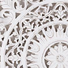 4 bleached and carved friezes 60 x 60 cm | Maisons du Monde