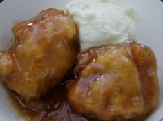 Maple Syrup Dumplings from Food.com:   One of my favorite dessert made with maple syrup.  Each time we go to my cousin's sugar shack, his wife makes us maple syrup dumplings.  So yummy.  This recipe is from Ricardo & Friends.