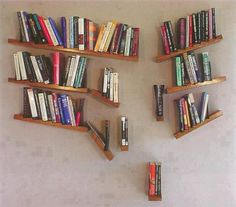 In Book Heaven, even the broken shelves will never allow a book to fall to the floor.