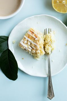Triple Lemon Streusel Cake