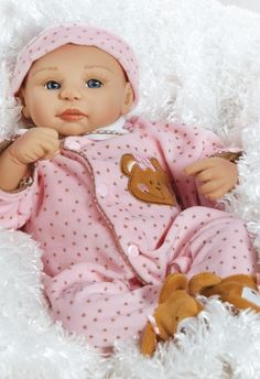 Teddy Bear Twin Abigail, 16 inch Baby Doll in Vinyl, Weighted Body