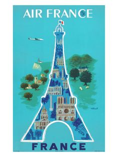 I'd love to collect and frame vintage travel posters and postcards