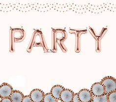Party Rose Gold Balloon Banner, Balloon, Wedding Balloons, Party Balloon, Gold Balloon, Silver, Birthday, Bachelorette, Bride, Fiesta by OutOfMyBubble on Etsy