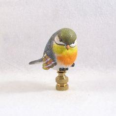 Bird Lamp Finial: Cute Colorful Bird