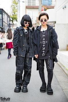 Dark Harajuku Street Fashion w/ Never Mind the XU, Michiko L.- Dark Harajuku Street Fashion w/ Never Mind the XU Michiko London Demonia Long - Tokyo Fashion, Japan Street Fashion, Harajuku Fashion, Dark Fashion, Grunge Fashion, Trendy Fashion, Fashion Trends, Grunge Outfits, Fashion Women