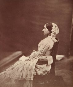 Queen Victoria (Alexandrina Victoria) (24 May 1819-22 Jan 1901) UK in Buckingham Palace by Roger Fenton 30 Jun 1854. Royal Collection Trust.