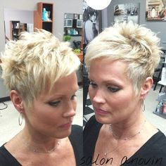 Superb Short Pixie Haircuts for Women - Are you looking for an extraordinary innovation? Are you tired of your long boring hair style? Pixie Haircut Thin Hair, Thin Hair Haircuts, Short Pixie Haircuts, Pixie Hairstyles, Braid Hairstyles, Short Pixie Cuts, Short Choppy Hair, Short Undercut, Short Grey Hair
