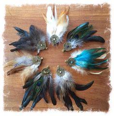 Wunderschöne Federclips für dein Haar, deine Kleidung oder für deinen Hut.