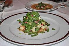 Chopped Apple Salad with Pomegranate Vinaigrette {Celebration at Bobby Flay's Bar Americain} ~ http://jeanetteshealthyliving.com