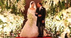 Wedding ceremony overwhelmed with flowers! Amazing!