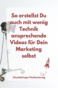 Do it yourself videos for entrepreneurs - So you can create high-quality videos for your positioning yourself with little technology and a sm - Social Media Trends, Social Media Plattformen, Social Media Marketing, Affiliate Marketing, E-mail Marketing, Content Marketing, Online Marketing, Do It Yourself Videos, Business Motivation