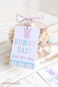 Free printable bunny bait tag by Katarina's Paperie