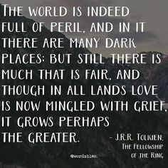 The world is indeed full of peril