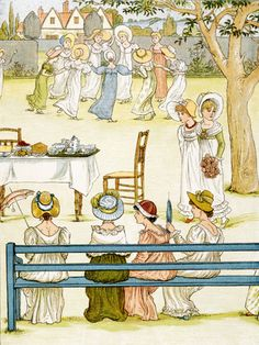Garden Party, by Kate Greenaway