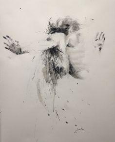 ewa hauton 120x110cm ink on paper http://ewahauton.wix.com/peinture