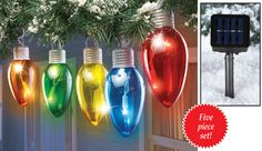 Solar Multi Color Holiday Bulbs Light String