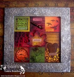 Laurart: Autumn Colours #altered frame